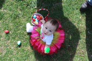 Our one year old great-niece, Reagan, on Easter morning.